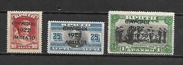 Greece 1923 Ovp EPANASTASIS 1922 On 1907 Cretan Stamps MH (G0062) - Ongebruikt
