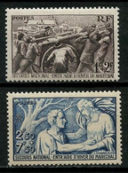 FRANCE 1941  N° 497/498 ** Neufs MNH Superbes C 12.50 € Profit Secours National Guerre War Canon Soldats - Ungebraucht
