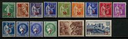 FRANCE 1941  N° 476/490 ** Neufs MNH Superbes C 7.60 € Semeuse Mercure Paix Cérès Mineurs Remparts Carcassonne - Ungebraucht