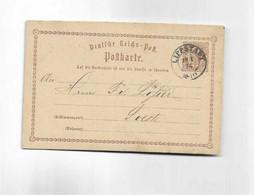 Ganzsachenkarte Aus Lippstadt Nach Soest 1874 - Briefe U. Dokumente