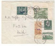 Israël -  Période Intérimaire - Lettre De 1948 ° - Oblit Haifa - Exp Vers Haifa - - Briefe U. Dokumente