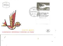 Israel - Contre La Faim ( FDC De 1963 à Voir) - FDC