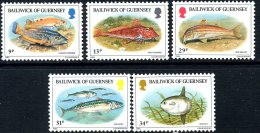 Guernsey 1985 Fish Set Of 5, MNH - Guernsey