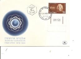 Israel - Prix Nobel - Physique - Einstein ( FDC De 1956 à Voir) - FDC
