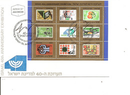Israel - Timbres Sur Timbres  ( FDC De 1988 à Voir) - FDC