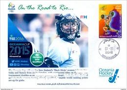 ALGERIJE 2016 - FDC Olympic Games Rio 2016 Field Hockey New Zealand Olympische Spiele Olímpicos Olympics JO - Hockey (Field)