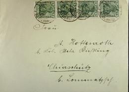 DR: Brief Mit 5 Pf Germania Vom 2.2.20 MeF  Nach Churschütz-Lommatzsch Knr: 85 (4) - Briefe U. Dokumente