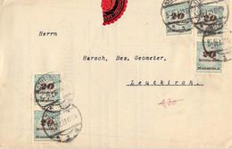 MiNr.329 MeF Auf Gefalteter Rechnung Stuttgart - Leutkirch 1923 Deutsches Reich - Briefe U. Dokumente