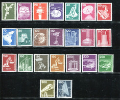 Germany 1975-82. Industry & Technology. Complete Set. All MINT ** (MNH) 23 Stamps - Ungebraucht
