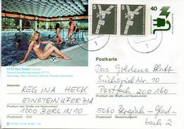 """(BP3)BRD Bildpostk.Wz40(Pf) Olivgrün""""Unfallverhütung"""" P120 515586 D3/48 ZF """"6232 Bad Soden"""" TSt.26.7.78 BERLIN - Bildpostkarten - Gebraucht"""
