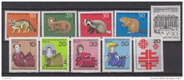 BERLIN Jahrgang 1968 Komplett Postfrisch **, 316-325 - Ungebraucht
