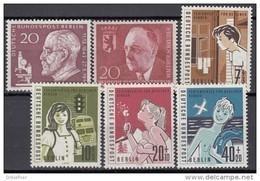 BERLIN  Jahrgang 1960, Postfrisch **, 191-196, Komplett - Ungebraucht