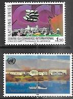 UN / Geneva 1990  Sc#182-3  1.50Fr & 5Fr  MNH  2016 Scott Value $7 - Ungebraucht
