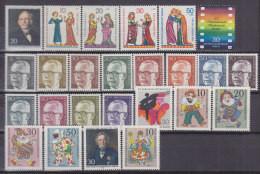 BERLIN 353-378, Postfrisch **, Jahrgang 1970 Komplett - Ungebraucht