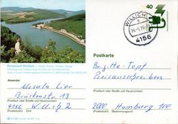 """(BP3)BRD Bildpostk.Wz40(Pf) Olivgrün""""Unfallverhütung"""" P120 515586 D4/53 """"Ferienland Waldeck"""" TSt 24.5.76 WILLICH - Bildpostkarten - Gebraucht"""