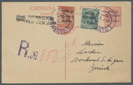 Italienische Besetzung 1918/23 - Trentino: TRENTINO, Victor Emanuel III., 20 Heller Auf Brief Aus Ve - Trentino