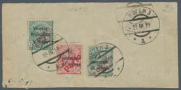 Italienische Besetzung 1918/23 - Trentino: 1919, LOKALAUSGABE BOZEN 3, Portomarken, Einschreiben-Abg - Trentino
