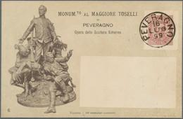 """Italien - Ganzsachen: 1898, Rare Private Postal Stationery """"Monumento Maggiore Toselli"""", Only 100 Pr - Ganzsachen"""