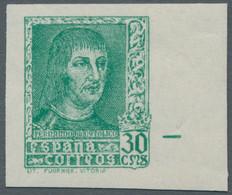 Spanien: 1938, König Ferdinand, 30 Cts., Sechs Breitrandig Ungezähnte, Tadellos Postfrische Exemplar - 1951-60 Neufs