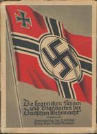 Ansichtskarten: Propaganda: DIE FAHNEN UND STANDARTEN DER DEUTSCHEN WEHRMACHT. Komplette Farbige Ser - Political Parties & Elections