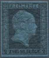 Preußen - Marken Und Briefe: 1864, 1 Und 2 Sgr., 2 Ungebrauchte Neudrucke, 1 Sgr Ohne Gummi Und 2 Sg - Preussen