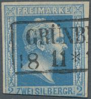 Preußen - Marken Und Briefe: 1857, Friedrich Wilhelm IV., 2 Sgr. Kobalt Mit Glattem Hintergrund, Dre - Preussen