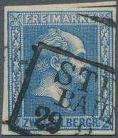 Preußen - Marken Und Briefe: 1858, Friedrich Wilhelm IV., 2 Sgr. Grauultramarin Mit Gegittertem Hint - Preussen