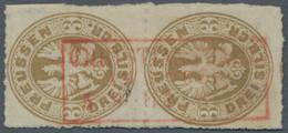 "Preußen - Stempel: 1864, Hilfspostämter, Rot Abgeschlagener Kastenstempel ""Christiansstadt"", Vollstä - Preussen"