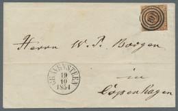 Schleswig-Holstein - Marken Und Briefe: 1851, 4 RBS Gelbbraun, Leicht Berührt Bis Breitrandig Auf Br - Thurn Und Taxis