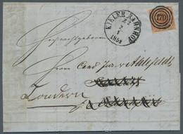"""Schleswig-Holstein - Marken Und Briefe: 1854, 4 Sk. Rotbraun, Mit Klarem Nummernstempel """"170"""" Und Ek - Thurn Und Taxis"""