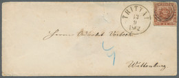 Schleswig-Holstein - Marken Und Briefe: 1863, Brief Frankiert Mit 4Sk. Ausgabe 1858, Gewellter Grund - Thurn Und Taxis