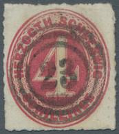 Schleswig-Holstein - Marken Und Briefe: 1864, Freimarke 4 Schillinge (lebhaft)karminrot Entwertet Mi - Thurn Und Taxis