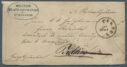Schleswig-Holstein - Marken Und Briefe: 1864, Deutsch-Dänischer Krieg, Portofreier Feldpostbrief Der - Thurn Und Taxis