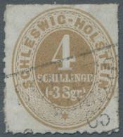 Schleswig-Holstein - Marken Und Briefe: 1865, Freimarke 4 Schillinge Hellockerbraun Mit Sauberem Dur - Thurn Und Taxis