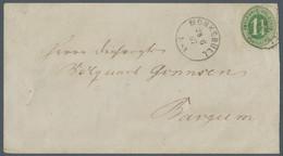 """Schleswig-Holstein - Ortsstempel: 1867, 1¼ S. Grün Tadellos, Auf Brief Mit Klarem K1 """"MÖNKEBÜLL 28 6 - Thurn Und Taxis"""