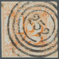 Thurn & Taxis - Marken Und Briefe: 1862, Freimarke 1/2 Silbergroschen Orange, Farbfrisch Und Glaskla - Thurn Und Taxis