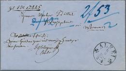Thurn & Taxis - Marken Und Briefe: 1862, Vollständiges Briefcouvert Mit POSTVORSCHUß über 2,42 Gulde - Thurn Und Taxis