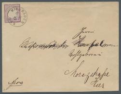 Deutsches Reich - Brustschild: 1872, Kleiner Brustschild, 1/ 4 Groschen Grauviolett, Einzelfrankatur - Briefe U. Dokumente