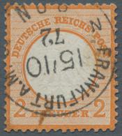 Deutsches Reich - Brustschild: 1872-1873, Kleine Partie Aus 11 Verschiedenen Großen Und Kleinen Brus - Gebraucht