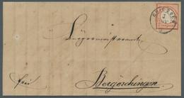 Deutsches Reich - Brustschild: 1872, Kleiner Brustschild, 2 Kreuzer Rötlichorange Als Einzelfrankatu - Ohne Zuordnung