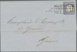 Deutsches Reich - Brustschild: 1872, Kleiner Schild 7 Kr. Ultramarin, Zwei Briefhüllen Mit Portogere - Briefe U. Dokumente
