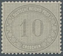 Deutsches Reich - Brustschild: 1872, Innendienst, 10 Groschen Gelbgrau, Tadellos Postfrisches Exempl - Ungebraucht