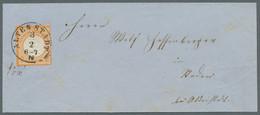 Deutsches Reich - Brustschild: 1872, 2 Kreuzer Orange, Als Einzelfrankatur Im Eigenen Landzustellbez - Briefe U. Dokumente