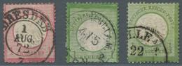 Deutsches Reich - Brustschild: 1872, Großer Brustschild 1/3 Groschen Gelblichgrün, Am Oberrand Einig - Gebraucht
