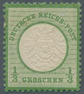 Deutsches Reich - Brustschild: 1872, Großer Brustschild 1/3 Groschen (dunkel)grausmaragdgrün In Gute - Ungebraucht