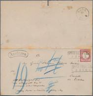 """Deutsches Reich - Brustschild: 1872, Großer Schild 1 Gr Rot Auf """"Auslagen""""-Brief Mit Ra3 """"STOLBERG A - Briefe U. Dokumente"""