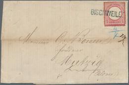 """Deutsches Reich - Brustschild: 1872, Großer Schild 1 Gr. Karmin Auf Brief Mit Seltenem Blauem L1 """"BI - Briefe U. Dokumente"""