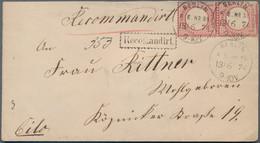 Deutsches Reich - Brustschild: 1872 Gr. Schild 1 Gr. Im Paar Auf ERMÄSSIGTEM ORTS-EINSCHREIBEN Mit K - Briefe U. Dokumente