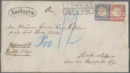 """Deutsches Reich - Brustschild: 1872, Großer Schild 1 Gr Und 2 Gr Auf """"Auslagen""""-Brief Von Nordhausen - Briefe U. Dokumente"""