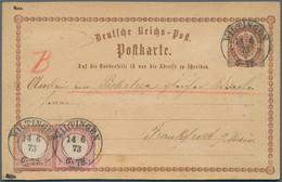 Deutsches Reich - Brustschild: 1873, GA-Karte ½ Gr Mit Großer Schild 2½ Gr. Und 1 Gr. Verwendet Als - Ohne Zuordnung